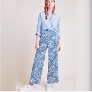 MAEVE by ANTHROPOLOGIE Anika Knit Wide-Leg Trouser